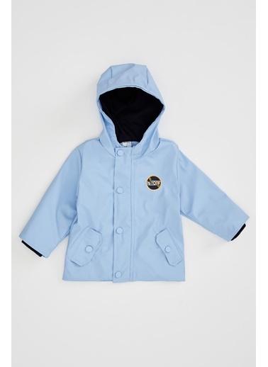 DeFacto Erkek Bebek Kapüşonlu Basic Mont Mavi